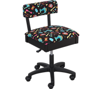 Horn Limited Edition Gaslift Sewing Chair Black Colourful Fluoro