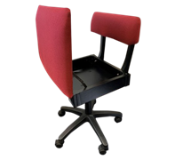 Horn Limited Edition Gaslift Sewing Chair Red Rose